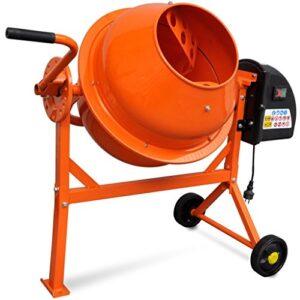Hormigonera eléctrica en acero con naranja 63 L 220 W