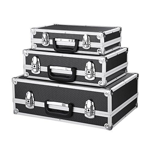 IKAYAA Juego de 3 transportes en maletín con marco de aluminio ...