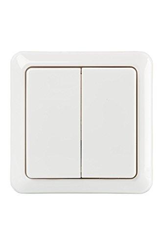 Interruptor de doble pared inalámbrico DLX, blanco (2 interr ...