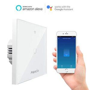 Interruptor de luz WiFi, Maxcio Smart Switch 1 Gang ...