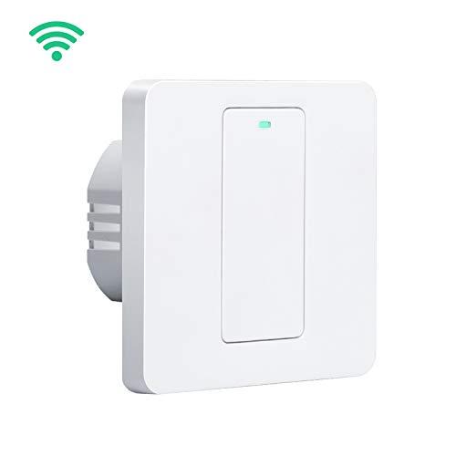Interruptor de pared Wi-Fi, 1 vía, 1 canal. Compatible con A ...
