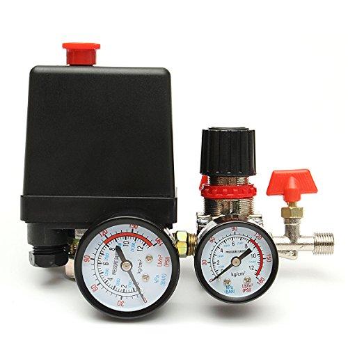 Interruptor de válvula de presión del compresor de aire MASUNN 125Psi ...