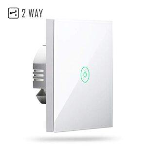 Interruptor táctil de pared Wi-Fi de 2 vías, 1 canal, con pantalla ...
