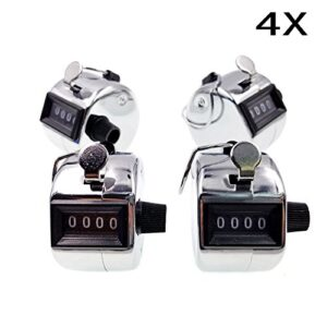JZK 4 x Silver Counter Click manual 4 dígitos clicker con ...
