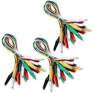 Juego de cables de prueba de alambre de pinza de cocodrilo ELEGOO 30pcs con pinzas ...