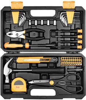 Juego de herramientas manuales 62 piezas de herramientas domesticadas ...