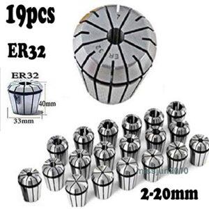 Juego de pinzas de resorte de 20 piezas de 20 piezas ER32 para el torno de ...