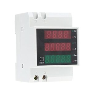 KKmoon AC80-300V 100A Medidor de factor de potencia Amperímetro Voltímetro ...
