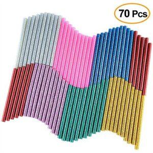 KUUQA 70Pcs Glitter Hot Melt Glue Adhesivo Pegamento ...