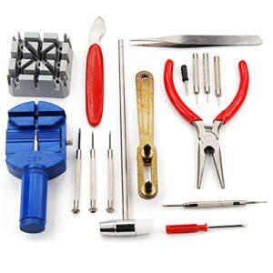 Kit de 16 herramientas de relojero para la reparación de ...