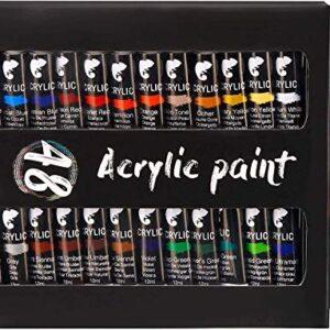Kit de 48 tubos de pintura acrílica (12 ml) - Pinturas acrílicas ...