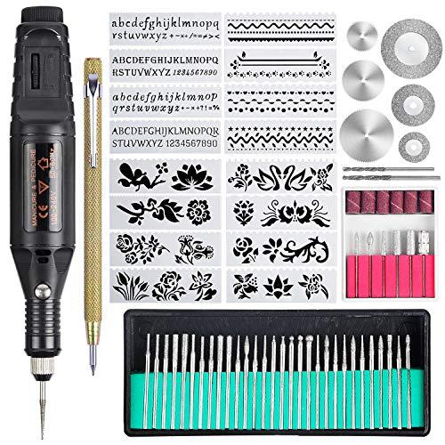 Kit de herramientas de grabado de 70 piezas, grabadora eléctrica ...