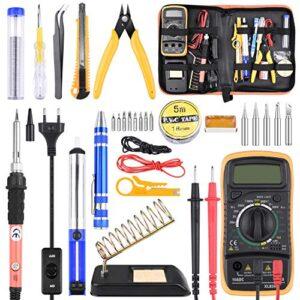 Kit de soldador de estaño con multímetro 24 piezas, kit de soldado ...