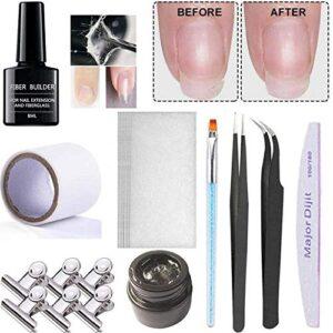 Kit de uñas de fibra de vidrio Extensión de uñas de ...