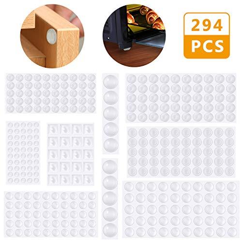 Lágrimas de silicona, Emooqi 294 piezas de pies de goma transparente ...