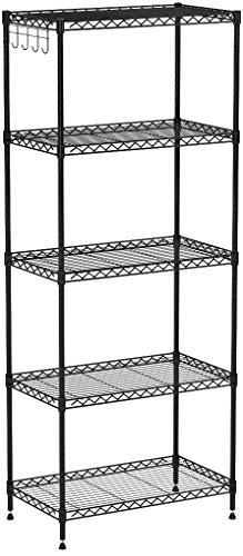 LANGRIA - Estantería metálica de 5 niveles para almacenamiento y ...