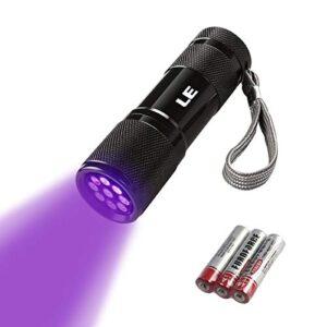 La linterna ultravioleta LE, el LED UV detectan orina y manchas ...