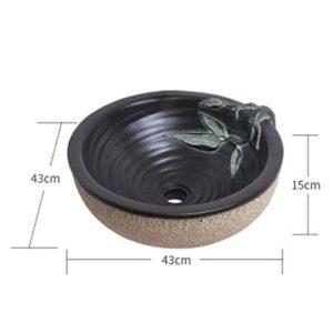 Lavabos de baño, en forma de tallado de piedra Lavabo tamaño...