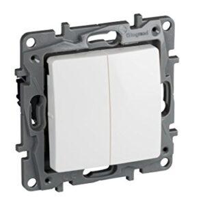 Legrand, 396502 Niloé - Interruptor de doble interruptor para em ...