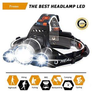 Linterna frontal recargable de alta potencia con 4 tipos de ...
