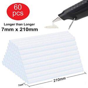 Lnkey 60 piezas barras de silicona transparente (7x210 mm) para ...
