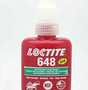 Loctite 648 x 50 ml hochfestes Botella de producto, buena temperatura ...