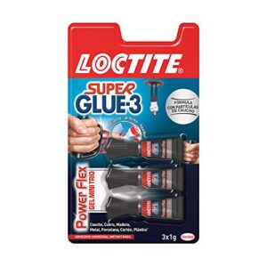 Loctite Super Glue-3 Power Flex Mini Trio, gel adhesivo flexible ...