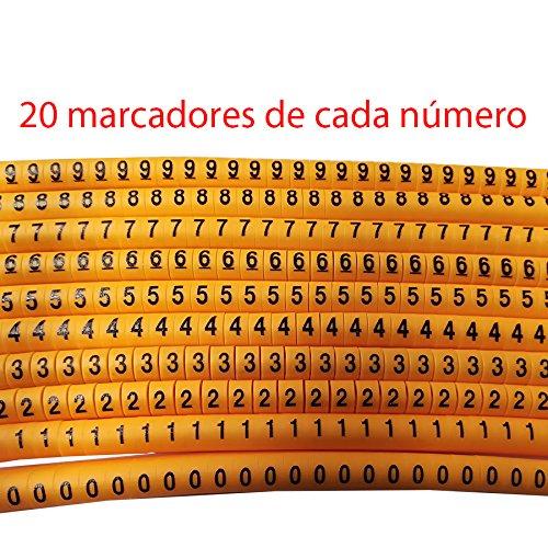 """Lote de 200 marcadores flexibles Cable PVC Marker de """"0"""" a ..."""