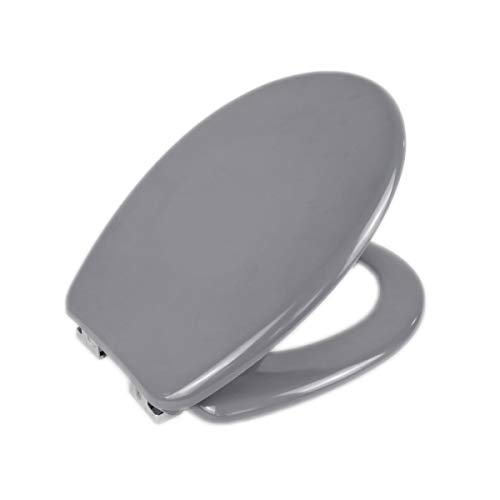 MERCURY TEXTIL - Tapa y asiento de inodoro universal Cierre suave y ...