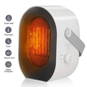 MIROCOO Calentador portátil, mini calentador eléctrico 600W / 1 ...