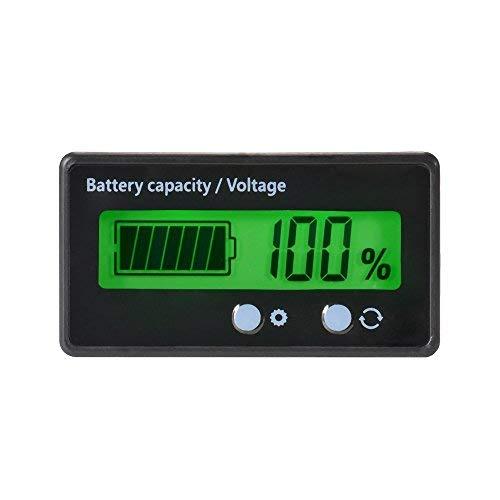 Medidor de capacidad de batería LCD, 12V / 24V / 36V / 48V ...