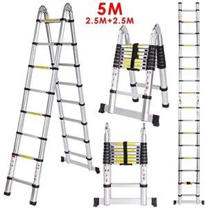 Meditool 5M (2.5M + 2.5m) Escalera plegable de aluminio, Te ...