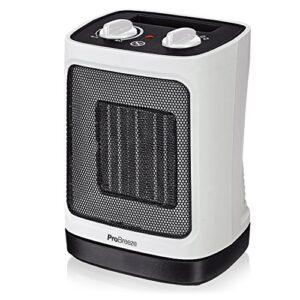 Mini calentador de cerámica Pro Breeze 2000W. Oscilación automática ...
