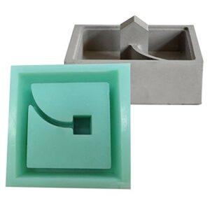 Molde de silicona Jannyshop para maceta de poliedro geométrico ...
