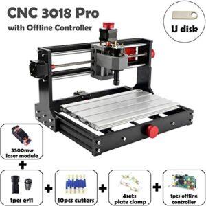 Mostics CNC 3018 Pro con módulo láser de 5.5W Grabador CNC ...