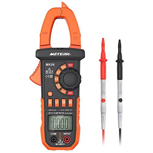 Multímetro de pinza digital, medidor de medición Meterk ohmímetro ...