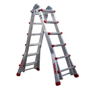 Nawa Professional escalera telescópica plegable de aluminio 6 ...