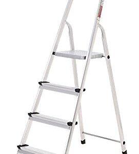 ORYX 23010002 - Escalera de aluminio, doméstica, 4 peldaños ...
