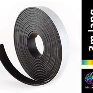 OfficeTree ® Cinta magnética - 3 m - Cinta autoadhesiva para ...