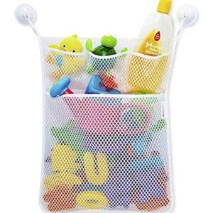 Ogquaton Práctico bebé baño baño baño juguete malla almacenamiento ...