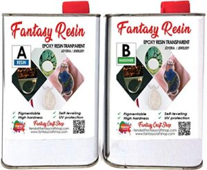 Omega Colors 1.5 Kg Resina epoxi fantasía, totalmente transparente ...