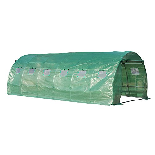 Outsunny Garden Greenhouse Orchard Tunnel Type 12 Windows ...