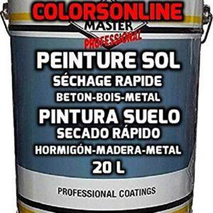 PINTURA DE SUELO profesional 20 litros BLANCO (28 kg +/-, 170 m ...