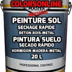 PINTURA PARA SUELO Profesional 20 Litros Gris Claro (28 kg +/-, 1 ...