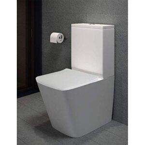 Pack WC de inodoro cuadrado compacto adosado a la pared con ...