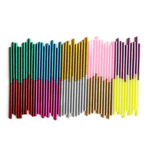 Pack de 100 unidades de barras de silicona con purpurina ...