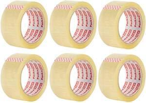 Packatape - 6 rollos de cinta de embalaje 48MMx 66MM transpa ...