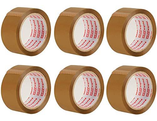 Paquete de cinta adhesiva marrón, 6 rollos de 48 mm x 66 mm de id ...