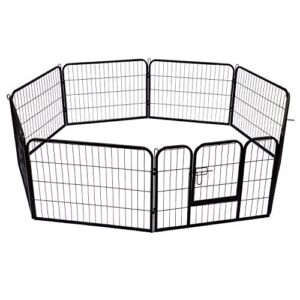 Parque para mascotas 8 vallas 80x60cm jaula valla corral con ...