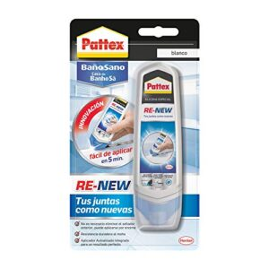 Pattex Healthy Bath RE-NEW, silicona blanca para cocina y baño, ...